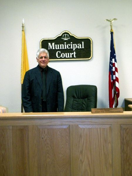 Judge Standing at the Podium in Municipal Court