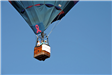 People Riding in a Hot Air Balloon