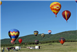 Colorful Hot Air Balloons Flying