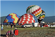 Hot Air Balloons Filling Up with Air