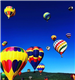 Colorful Hot Air Balloons Flying in the Air