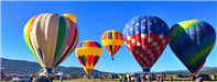 Five Hot Air Balloons