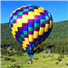 Green, Blue, Yellow, and Purple Hot Air Balloon